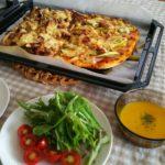ピザをデリバリーするのは勿体ない!自宅で作ると具も沢山で節約になります。