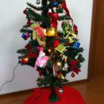 季節の行事は楽しもう クリスマスツリーを飾りました