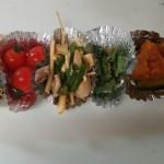 お弁当の品数は5品ぐらい入れて15分でお弁当作りは終了します。