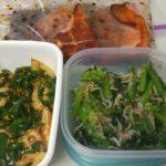 今週の作り置きは調理をした料理と平日食べる料理の下準備を30分で行いました。