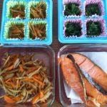自家製冷凍副菜で弁当作りを時短しています